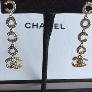 Chanel Coco Authentic Dangle Earrings